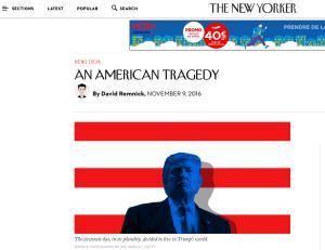 Une tragédie américaine, un désastre planétaire: le tournant Trump