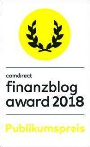 Teilnahme am comdirect finanzblog award 2018