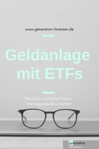Geldanlage mit Exchange Traded Funds (ETFs)