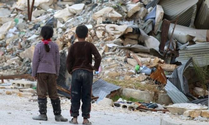 Kinder in Syrien sind die Leid tragenden