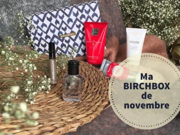 Ma jolie BIRCHBOX du mois de novembre