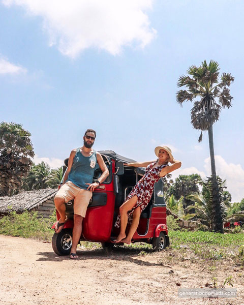 Tropical roads with our Tuktuk