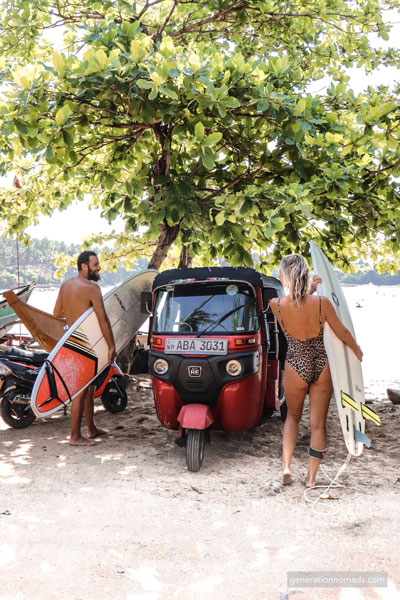 Reaching the best surf beaches with our Tuktuk