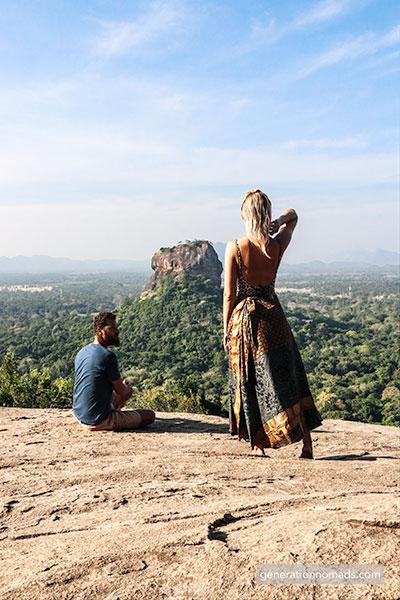 Pidurangala Rock view on Lion Rock Sigiriya