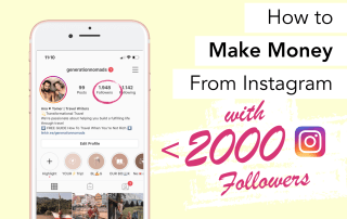 How to make money from Instagram with under 2000 followers