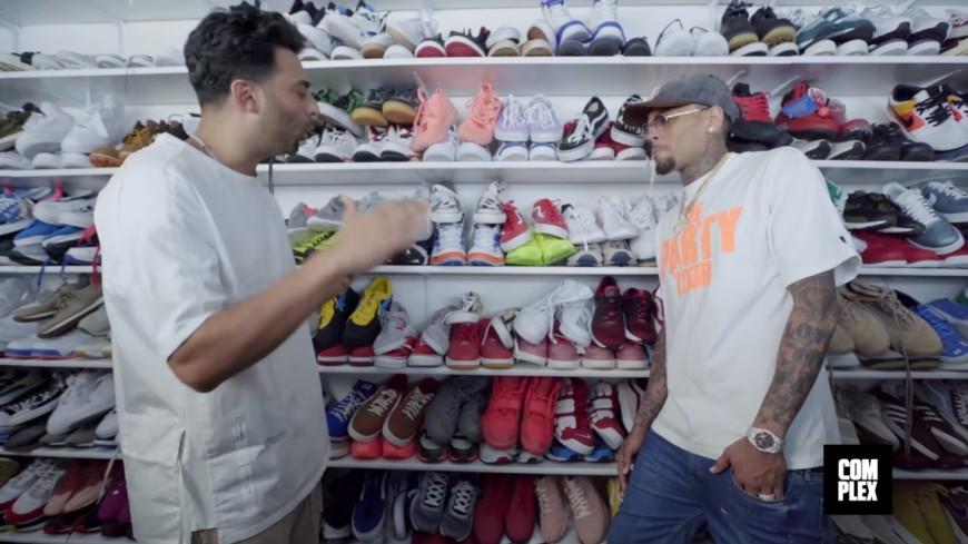 Découvrez la collection de sneakers complètement folle de Chris Brown !