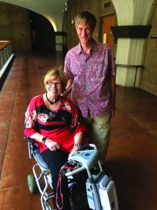 SENIOR ADVOCATES: Patricia Morrissey and David Leake, of the Center on Disability Studies at the University of Hawai'i at Ma¯noa, spread awareness about the Hawaii Visitable Housing Coalition at