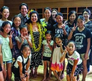 Kilohana and Harry B. host a keiki hula workshop in Chigasaki, Japan.