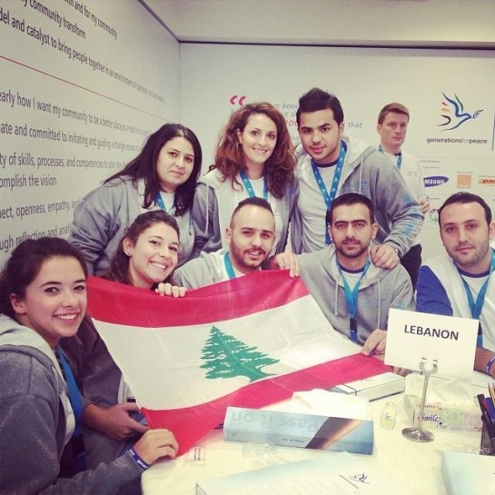 Our Lebanese Delegates demonstrating their national pride!