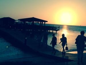 Sunset walk to Pinchos restaurant