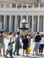Waiting to see the inside of the Vatican