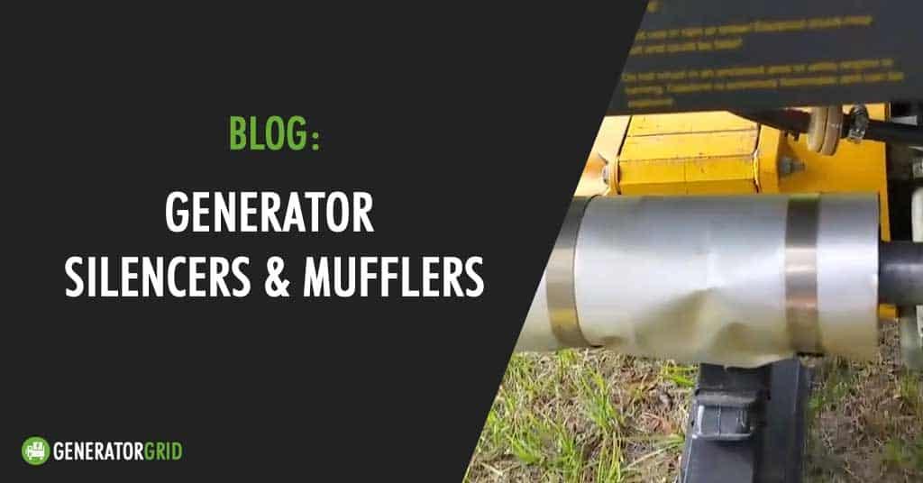 generator muffler silencers what