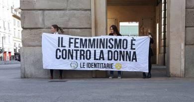 Le identitarie femminismo contro donna GID