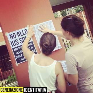 GID Le Identitarie No Ius Soli Milano