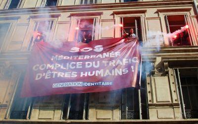 Identitari occupano pacificamente sede ONG SOS Méditerranée