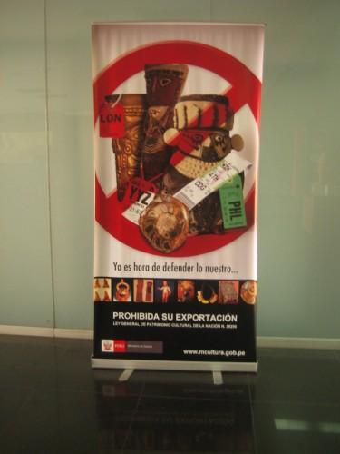 politica culturale perù, museo de la naciòn Lima, lotta al traffico illecito beni culturali