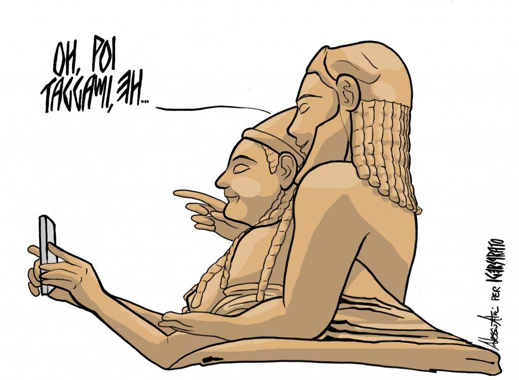 Questa strepitosa vignetta etrusca, che ha fatto il giro del web, è stata creata apposta per lanciare #viaetruscadelferro2015