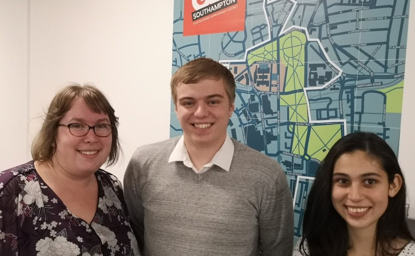 My UoS Journey: Alex Gibbs, GO! Southampton 'Excel' Intern