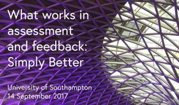 Title and date of conference What works in assessment and feedback conference.