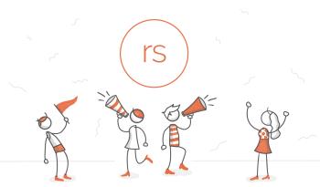 Four stick figures celebrating under a Rise logo.