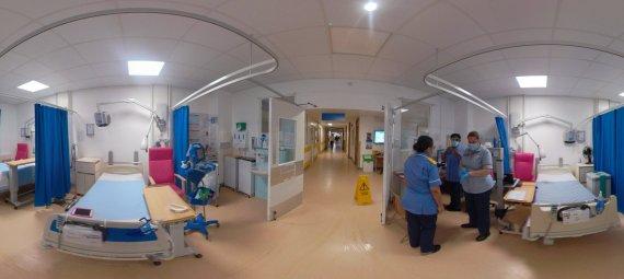 360 image of a hospital ward