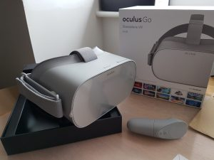 An unboxed Oculus Go