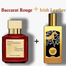 Baccarat Rouge + Irish Leather