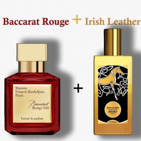 Baccarat Rouge + Irish Leather
