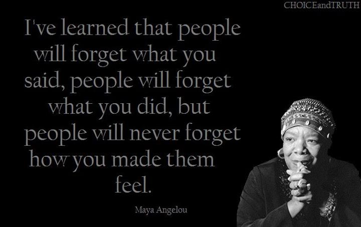 Maya Angelou Quotes And Sayings: Generosity In Quotes: Maya Angelou
