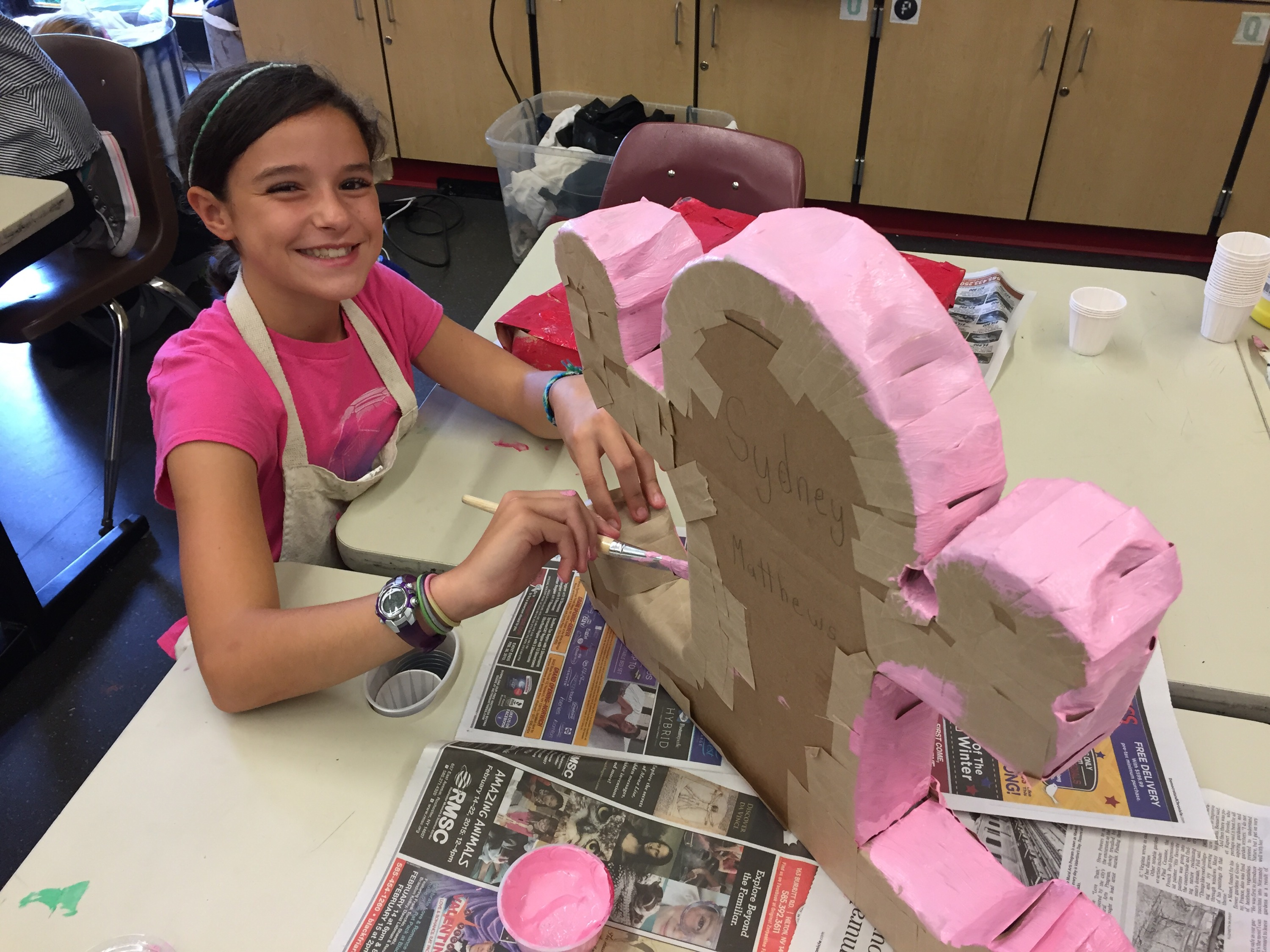 Making Keith Haring Sculptures In 6th Grade Art