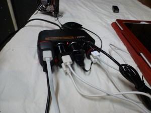 12v 4 socket car charger