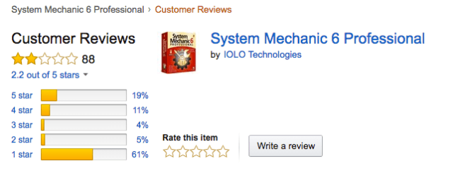System Mechanic reviews from Amazon