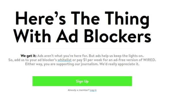 Request to turn off ad block