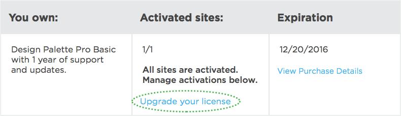 Account Upgrade Link