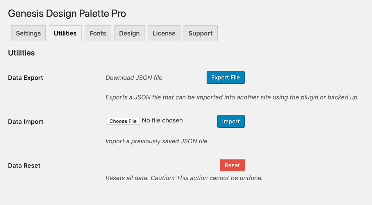 Design Palette Pro v1.8 - Customizer import, export, & reset