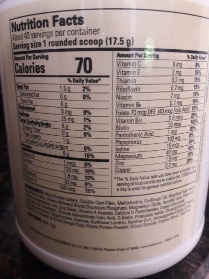 Slim & Sassy® TrimShake—Vanilla Ingredients