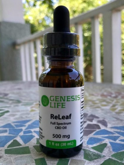 ReLeaf 500mg Full Spectrum CBD Oil - Front