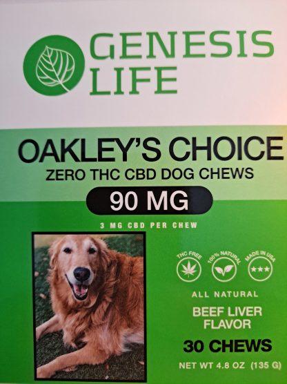 Oakley's Choice CBD Dog Chews Front Label