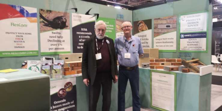 Stephan and Dick Newell at the Future Build Exhibition in London