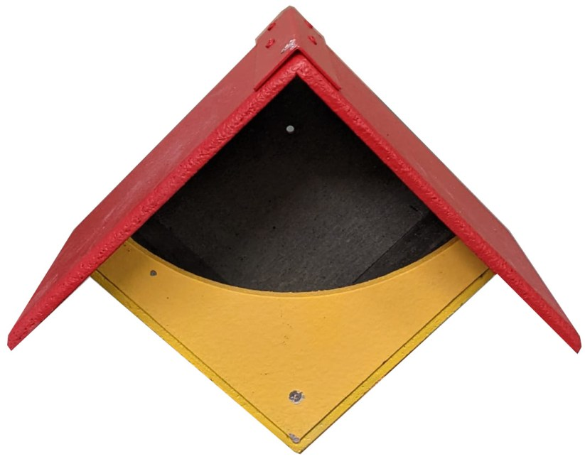 Yellow garden nest box