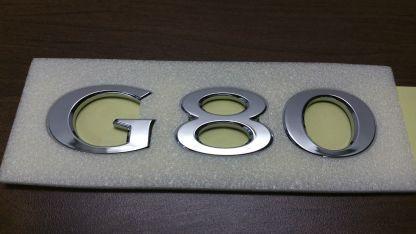 genesis g80 text badge