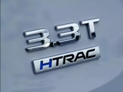 genesis 3.3 t turbo badge htrac