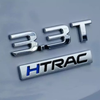 genesis 3.3 t turbo badge htrac