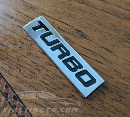 turbo badge