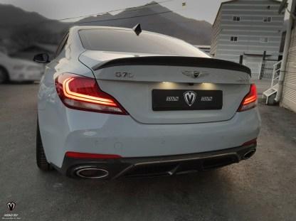 genuine M&S rear trunk spoiler for genesis g70