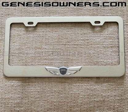 genesis wings license plate frame