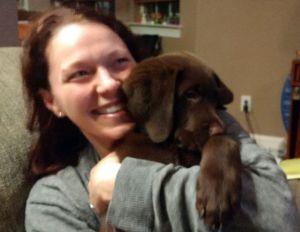 Kelly with Choco Lab