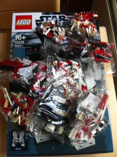 R2-D2 in plastick zakjes