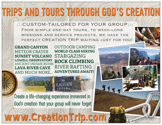 Creation Trip Post Card