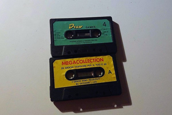 "The green cassette is the one that I found inside the ""blind bag"", the yellow one contains the first videogames I ever played in my life."